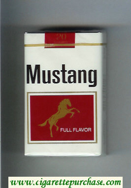 Discount Mustang Full Flavor cigarettes soft box