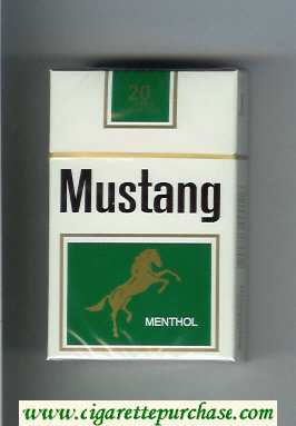 Discount Mustang Menthol cigarettes hard box