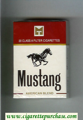 Discount Mustang American Blend cigarettes hard box
