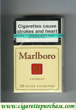 Discount Marlboro Canadian 20 Filter cigarettes hard box