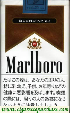 Discount Marlboro BLEND NO.27 cigarettes soft box