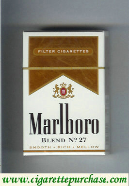 Discount Marlboro Blend No 27 filter cigarettes hard box