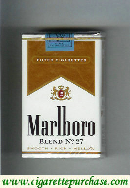 Discount Marlboro Blend No 27 filter cigarettes soft box