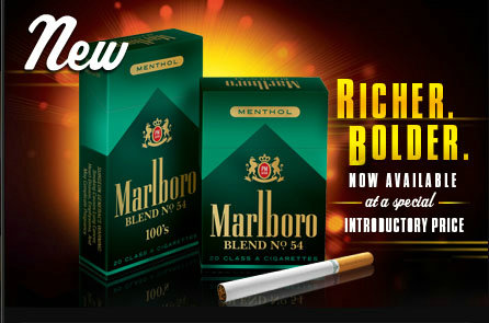 Discount Marlboro Blend No. 54 Menthol cigarettes hard box