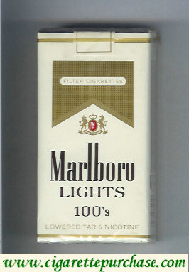 Marlboro Lights 100s cigarettes soft box