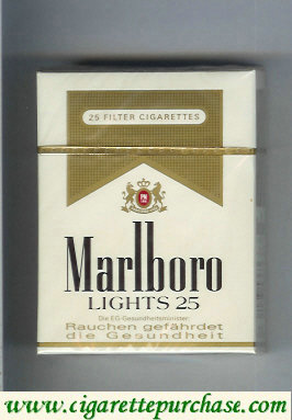 Marlboro Lights 25 cigarettes hard box