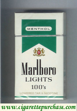 Marlboro Lights Menthol 100s cigarettes hard box