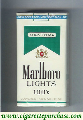 Discount Marlboro Lights Menthol 100s cigarettes soft box