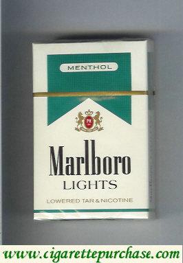Discount Marlboro Lights Menthol cigarettes hard box
