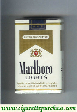 Marlboro Lights cigarettes soft box