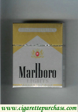 Marlboro Lights silver and gold cigarettes hard box