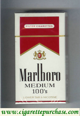 Marlboro Medium 100s cigarettes hard box