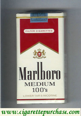 Marlboro Medium 100s cigarettes soft box
