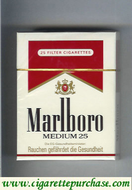 Marlboro Medium 25s cigarettes hard box