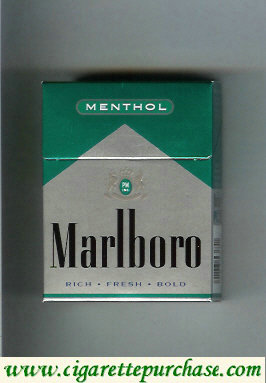 Discount Marlboro Menthol silver and green cigarettes hard box