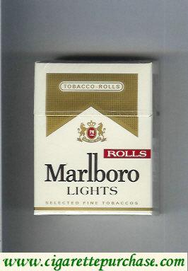 Discount Marlboro Rolls Lights cigarettes hard box