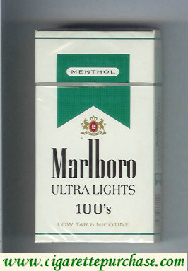 Discount Marlboro Ultra Lights Menthol 100s cigarettes hard box