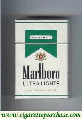 Discount Marlboro Ultra Lights Menthol cigarettes hard box