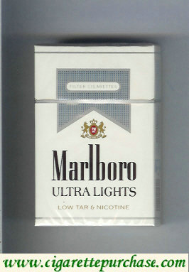 Discount Marlboro Ultra Lights cigarettes hard box