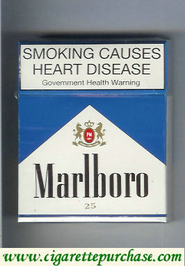 Discount Marlboro blue and white 25s cigarettes hard box