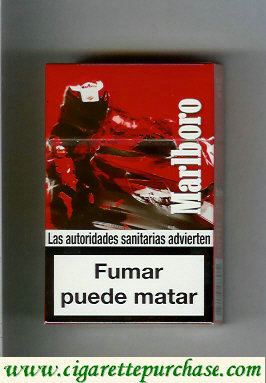 Discount Marlboro collection design Racing Edition hard box cigarettes