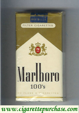 Marlboro gold and white 100s cigarettes soft box
