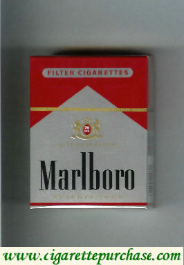 Discount Marlboro red and silver cigarettes hard box