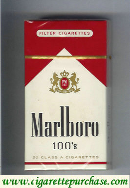 Discount Marlboro red and white 100s cigarettes hard box