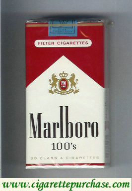 Discount Marlboro red and white 100s cigarettes soft box