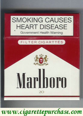Discount Marlboro red and white 100s cigarettes wide flat hard box