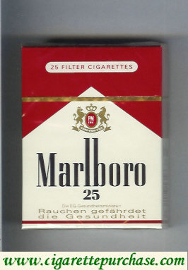 Discount Marlboro red and white 25s cigarettes hard box