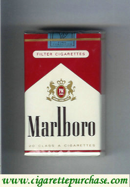 Discount Marlboro red and white filter cigarettes soft box