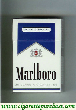 Discount Marlboro white and blue cigarettes hard box
