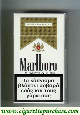 Discount Marlboro white and gold 100s cigarettes hard box