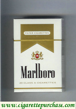 Discount Marlboro white and gold cigarettes hard box