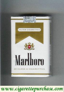 Discount Marlboro white and gold cigarettes soft box