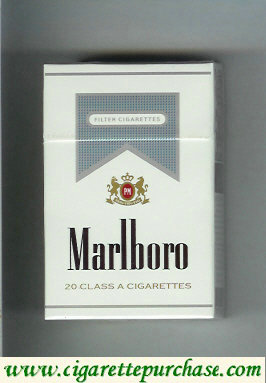 Marlboro white and grey cigarettes hard box