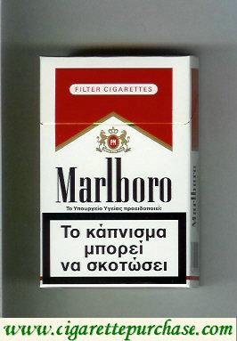 Discount Marlboro white and red cigarettes hard box