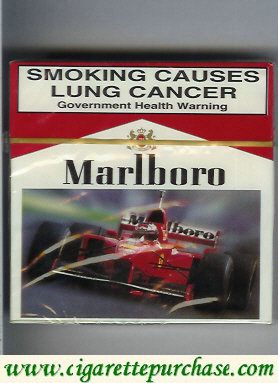 Discount Marlboro with Ferrari cigarettes wide flat hard box