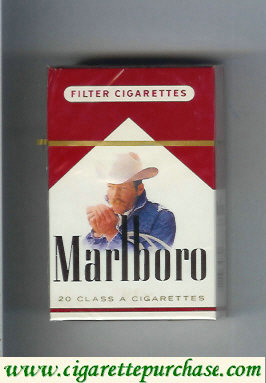Discount Marlboro with cowboy with cigarettes hard box