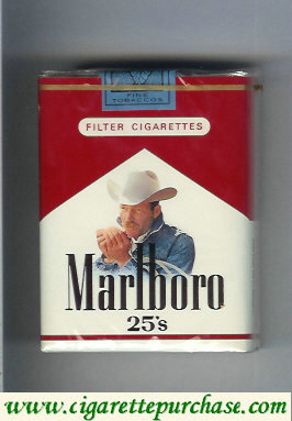 Marlboro with cowboy with cigarettes soft box