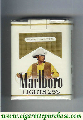 Discount Marlboro with cowboy with lasso in hands Lights cigarettes soft box