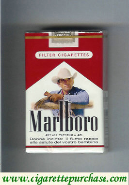 Discount Marlboro with cowboy with lasso on the tree cigarettes soft box