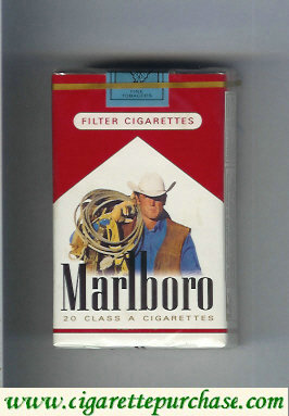 Discount Marlboro with cowboy with lasso on the upper arm cigarettes soft box