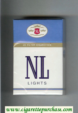 NL Lights cigarettes hard box