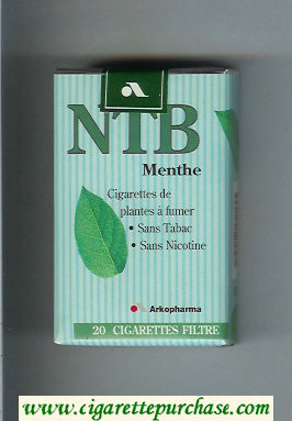 Discount NTB Menthe cigarettes soft box