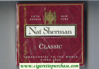 Discount Nat Sherman Classic red cigarettes wide flat hard box