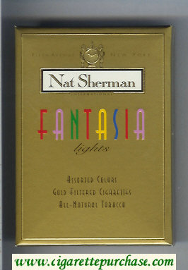 Discount Nat Sherman Fantasia Lights 100s cigarettes wide flat hard box