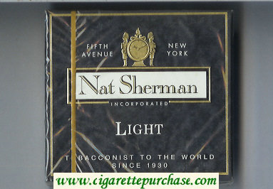 Discount Nat Sherman Light cigarettes wide flat hard box
