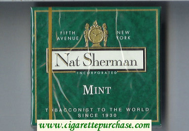 Discount Nat Sherman Mint cigarettes wide flat hard box
